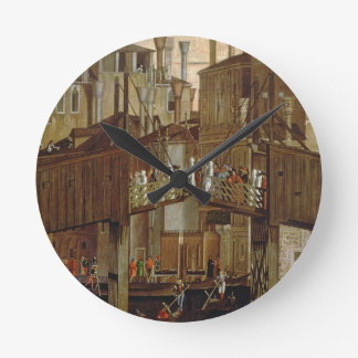 The Miracle of the Relic of the Holy Cross, detail Round Clock