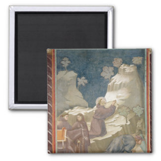 The Miracle of the Spring, 1297-99 Square Magnet