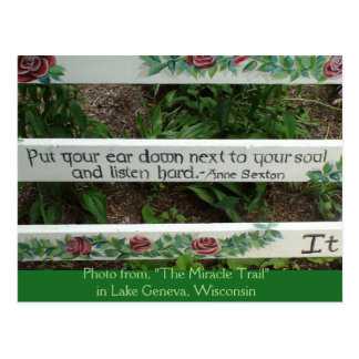 """The Miracle Trail"" Inspirational Quote Postcard"
