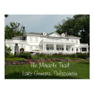 The Miracle Trail, Lake Geneva, Wisconsin Postcard