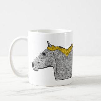 the mirror horse. coffee mug