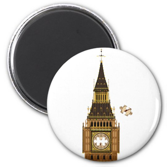 The Missing Piece 2 Inch Round Magnet