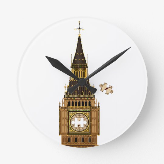 The Missing Piece Round Clock