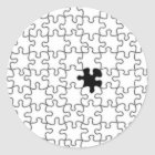 The Missing Puzzle Piece Pattern Classic Round Sticker