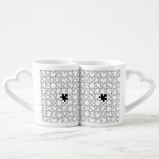 The Missing Puzzle Piece Pattern Coffee Mug Set