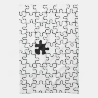 The Missing Puzzle Piece Pattern Kitchen Towel