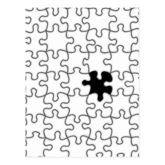 The Missing Puzzle Piece Pattern Postcard