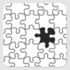 The Missing Puzzle Piece Pattern Square Sticker