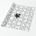 The Missing Puzzle Piece Pattern Wrapping Paper