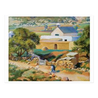 The Mission Church by Kenneth Miller Adams Postcard