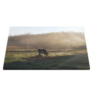 The Misty Countryside Canvas Print
