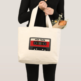 The Mix Tape Large Tote Bag