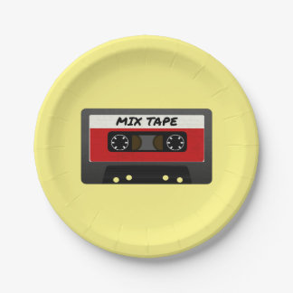 The Mix Tape Paper Plate