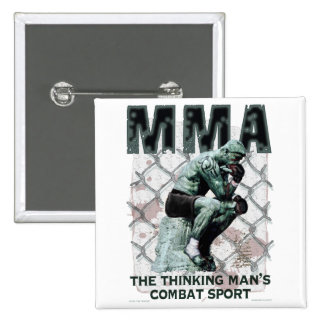 The MMA Thinker 2 Inch Square Button