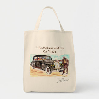 "The Mobster and His Car 1940's - ""Man Tote Bag"