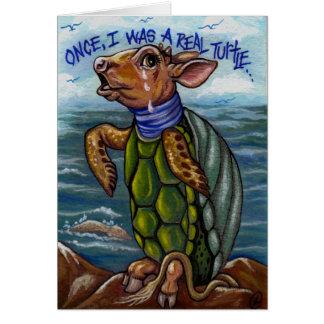 THE MOCK TURTLE Alice in Wonderland Note Card
