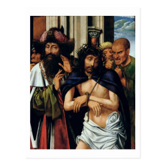 The Mocking of Christ (oil on panel) (see 165461 f Postcard