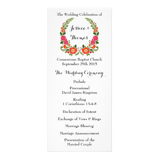 The Modern Floral Wreath Wedding Collection Rack Card