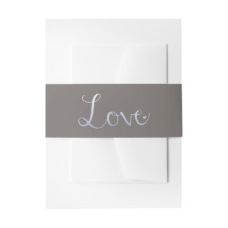 The Modern Love Wedding Collection - Purple Invitation Belly Band