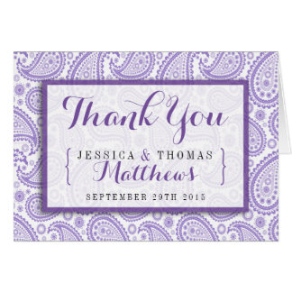 The Modern Paisley Wedding Collection - Purple Card