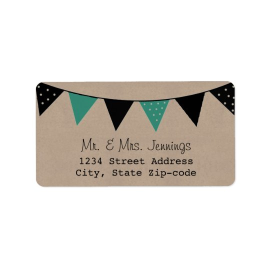 The Modern Turquoise Bunting Wedding Collection