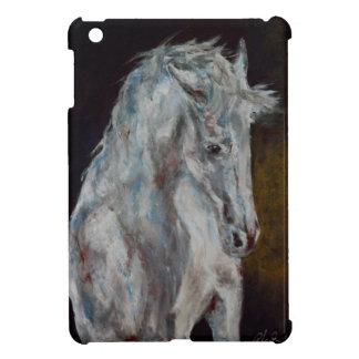 The Modern White Blue Horse iPad Mini Cover