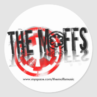The Moffs Myspace... Classic Round Sticker