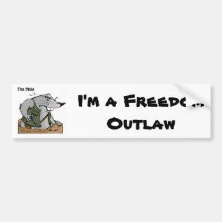 The Mole Outlaw Bumper Sticker