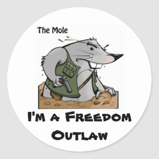 The Mole Outlaw Sticker