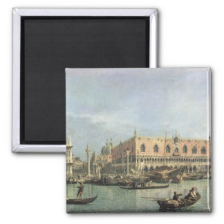 The Molo and the Piazzetta San Marco, Venice (oil Refrigerator Magnet