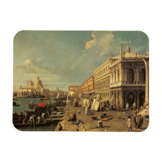 The Molo and the Zecca, Venice (oil on canvas) Magnet