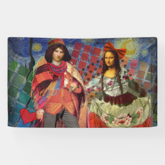 The Mona Lisa in Love Banner