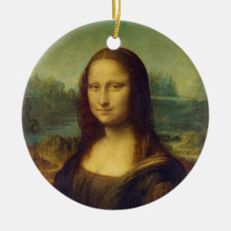 The Mona Lisa La Joconde by Leonardo Da Vinci Ceramic Ornament