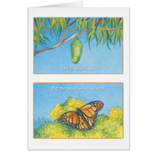 The Monarch Butterfly- Psalm 27:14 Card