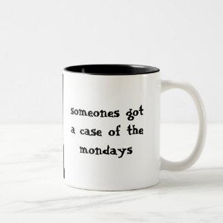 The Mondays Sad Cat on Monday Two-Tone Mug