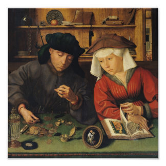 The Money Lender and his Wife, 1514 Poster
