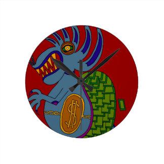 The Money Snail Round Clock