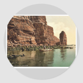 """The """"Monk"""", Helgoland, Germany magnificent Photoch Classic Round Sticker"""