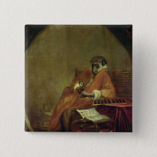 The Monkey Antiquarian, 1740 2 Inch Square Button