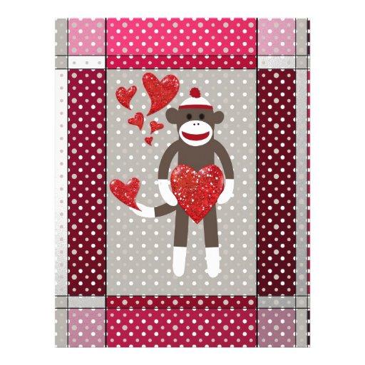 The monkey in-love. customized letterhead