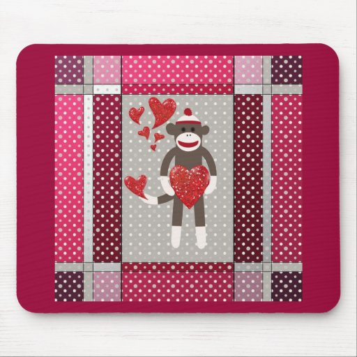 The monkey in-love. mouse pads