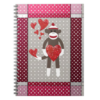 The monkey in-love spiral notebook