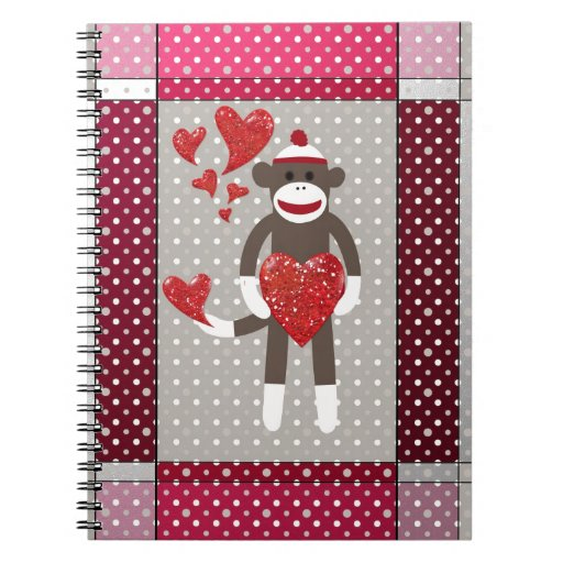 The monkey in-love. spiral notebook