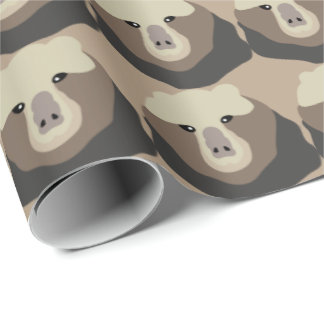 The Monkey Nosed Bear Wrapping Paper