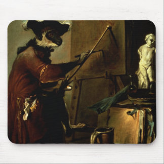 The Monkey Painter, 1740 (oil on canvas) Mouse Pad