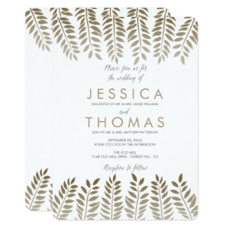 The Monochrome Fern Woodland Wedding Collection Card