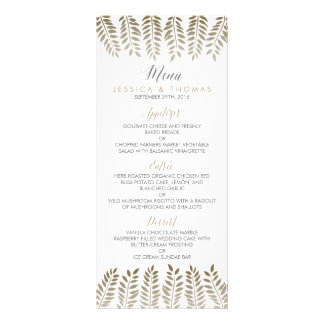 The Monochrome Fern Woodland Wedding Collection Rack Card