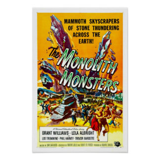 The Monolith Monsters Vintage Movie Poster
