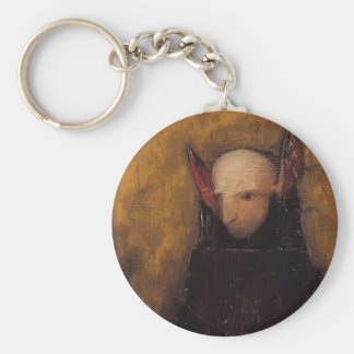 The Monster by Odilon Redon Basic Round Button Keychain