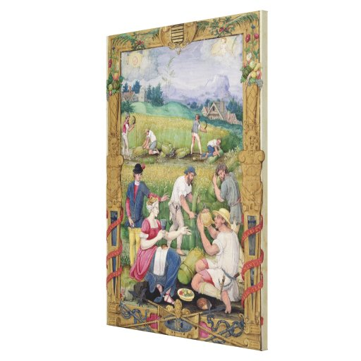 The Month of August: The Harvest Gallery Wrap Canvas